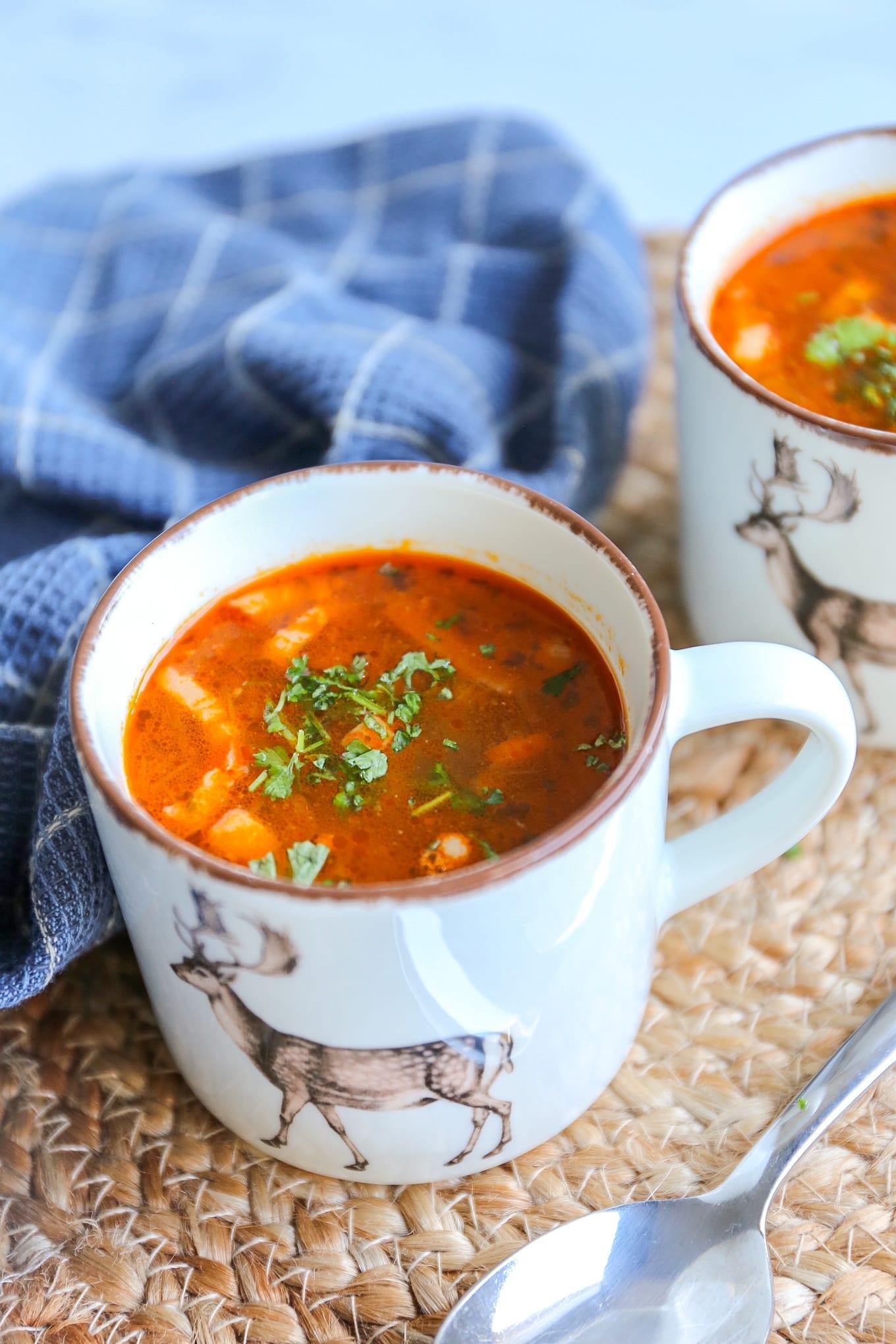 Tomaten-bonensoep