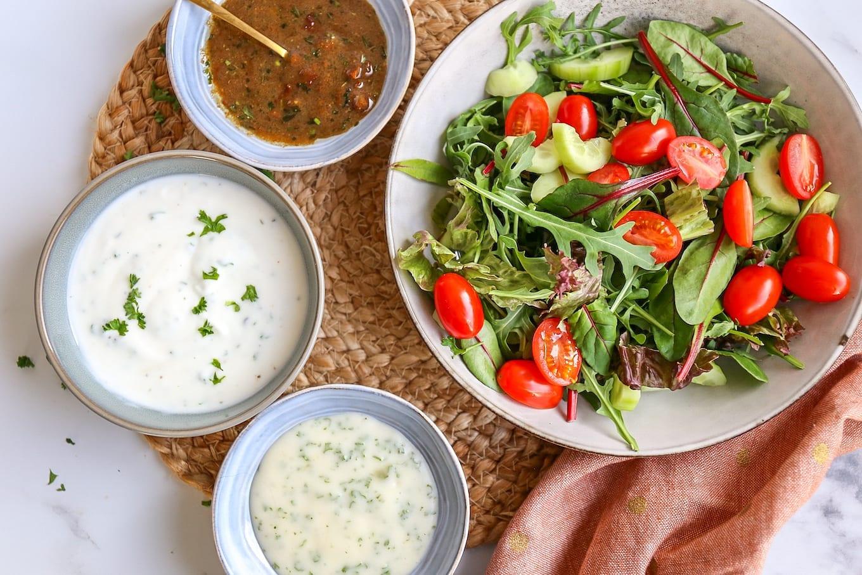 3x salade dressings