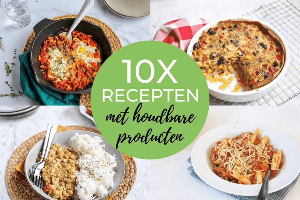 10x recepten met houdbare producten
