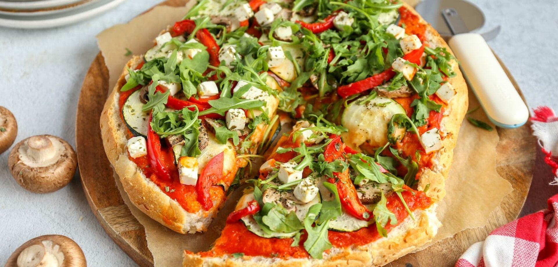 Turks brood pizza met groente