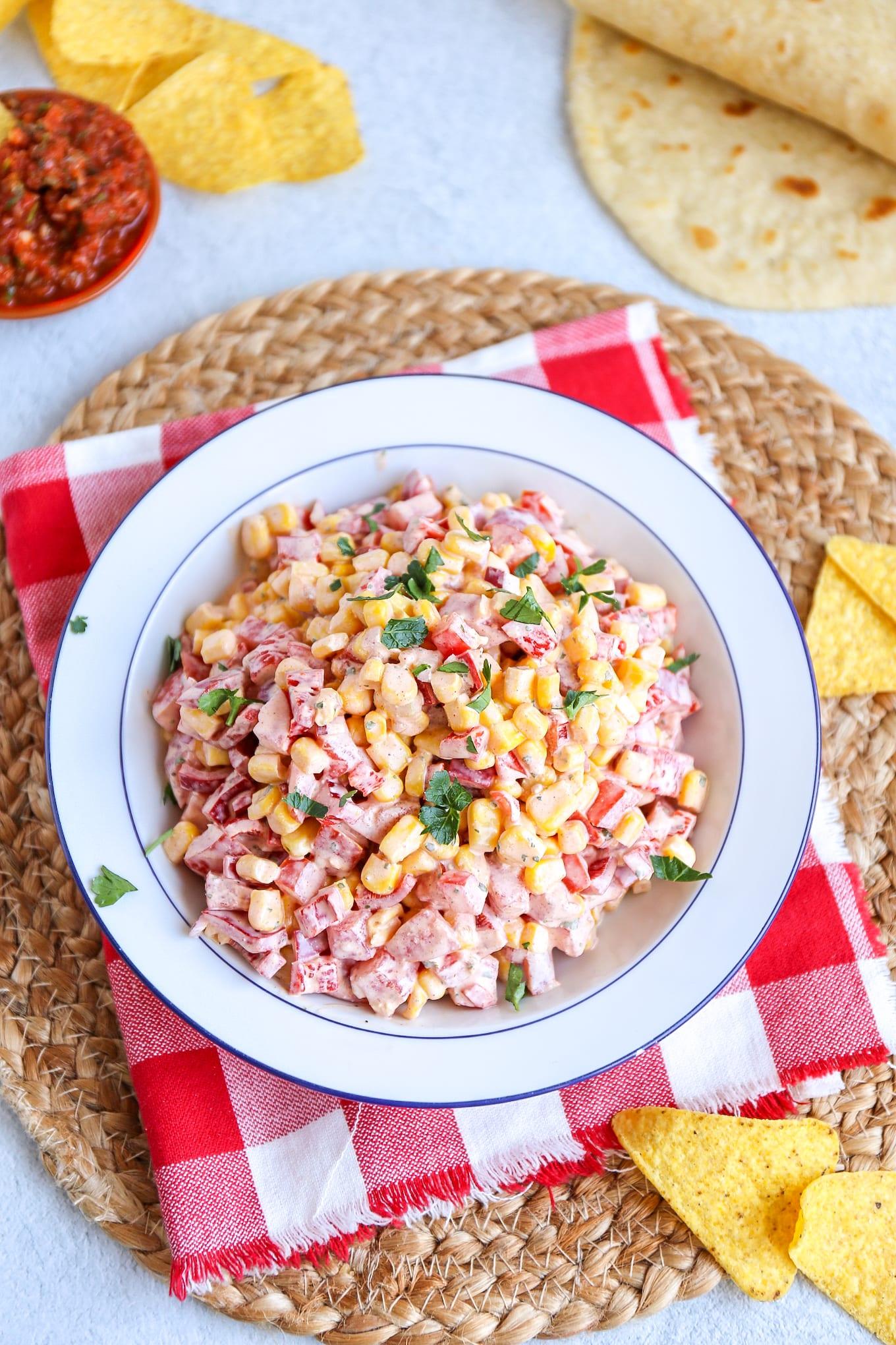 Mexicaanse maissalade
