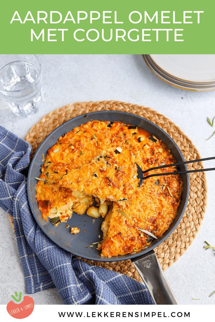 aardappel omelet met courgette