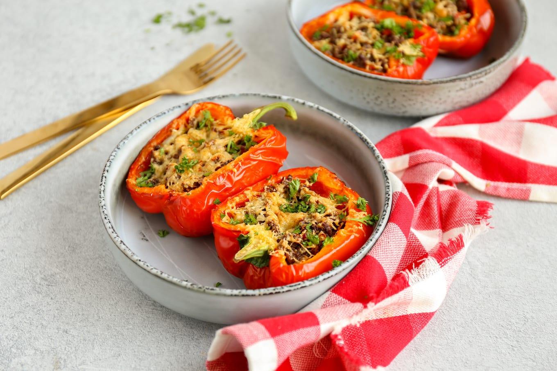 Gevulde paprika's met gehakt
