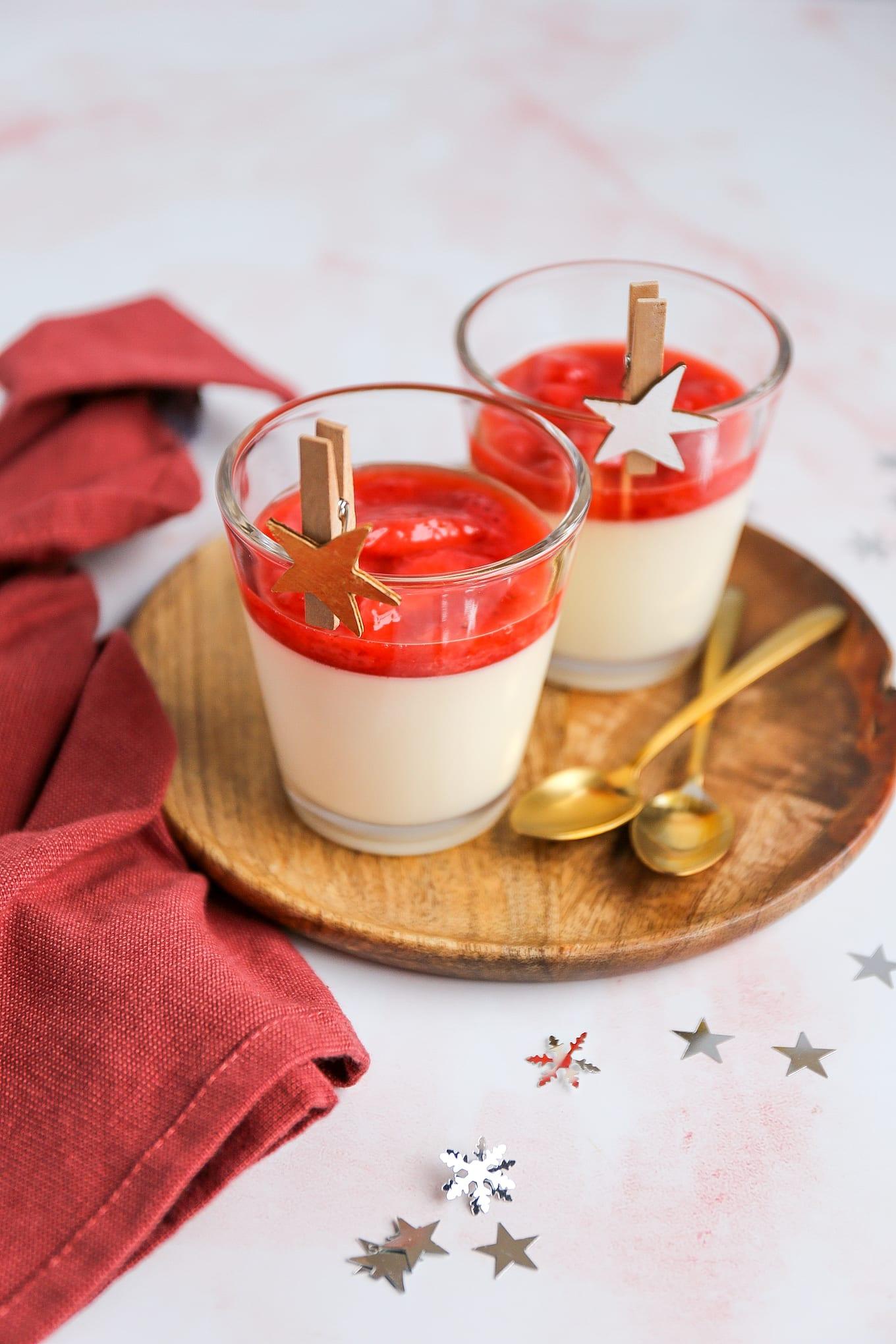 aardbeien panna cotta