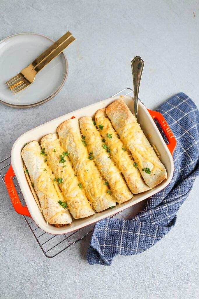 wraps met kip en rijst