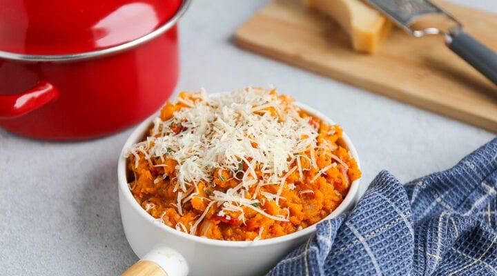 Italiaanse zoete aardappelstamppot