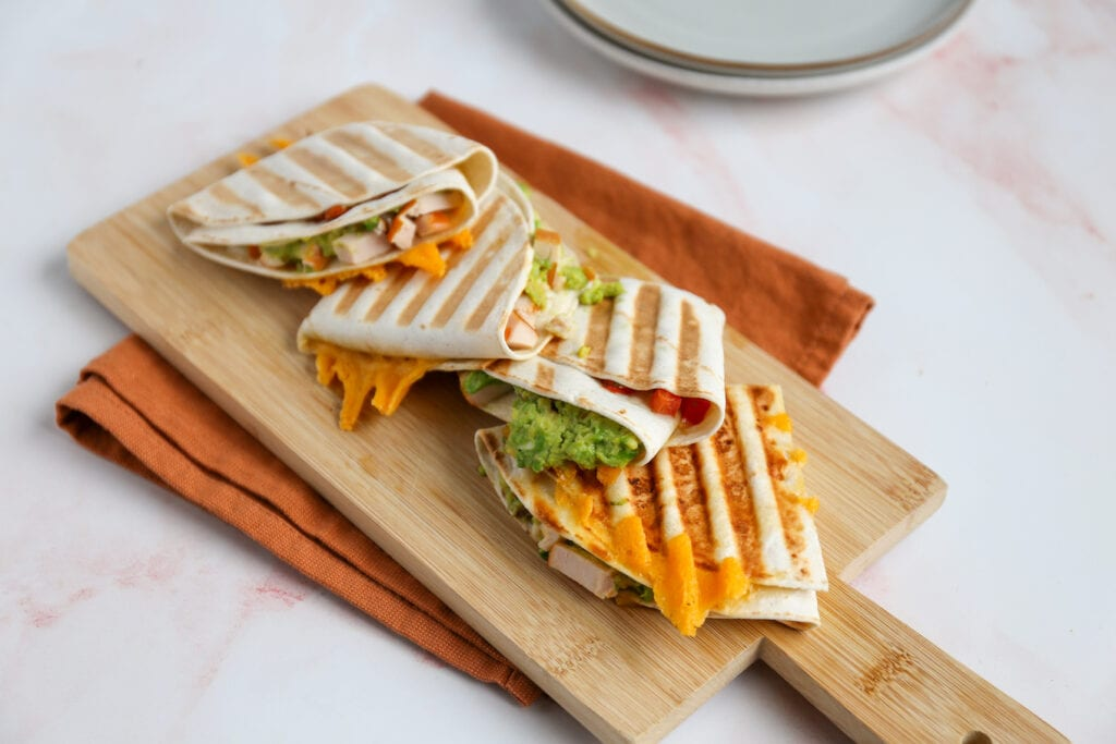 lunch wrap met avocado