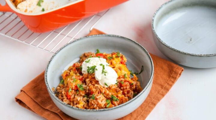 Mexicaanse rijstovenschotel