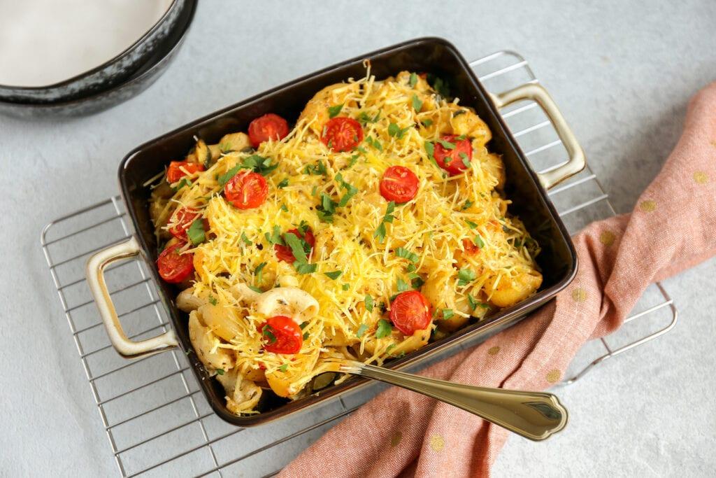 romige pasta-ovenschotel met courgette