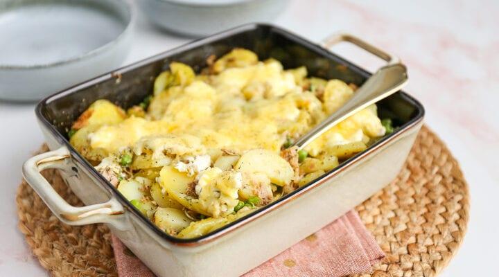 Aardappelovenschotel met tonijn