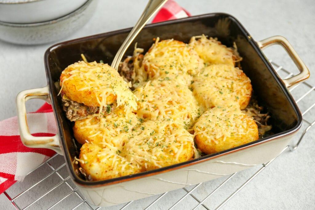 ovenschotel met gehakt en rösti
