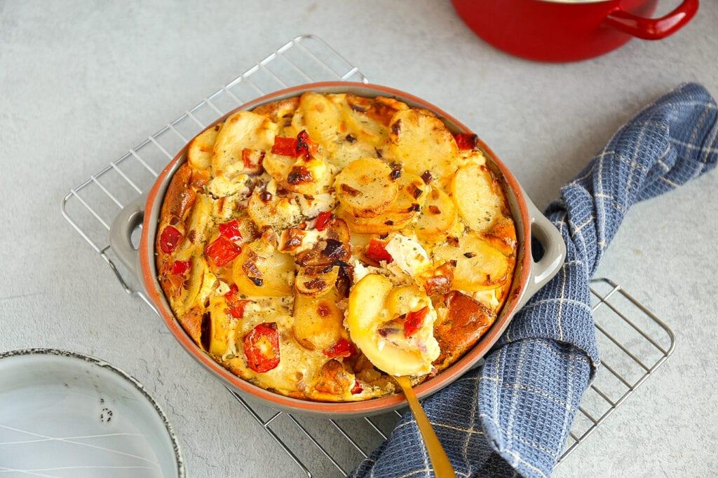 Griekse frittata met feta