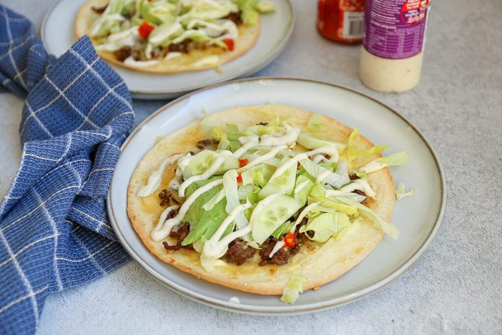 wrap pizza met knoflooksaus