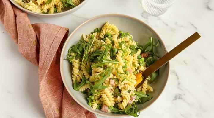 Romige pasta met pancetta