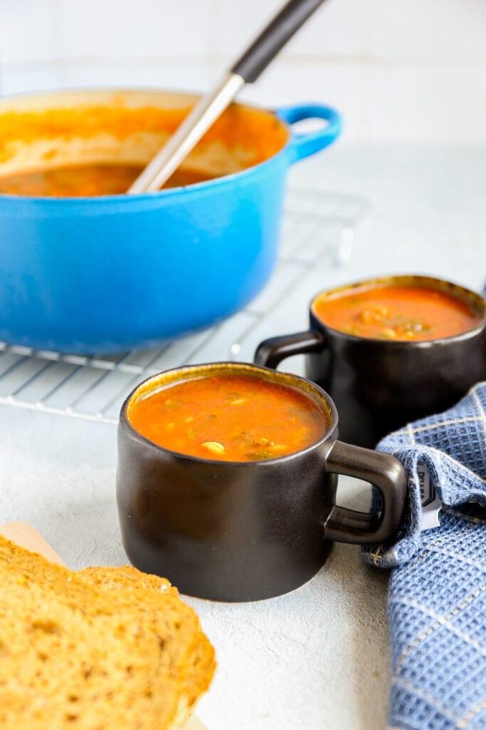Italiaanse soep met worst