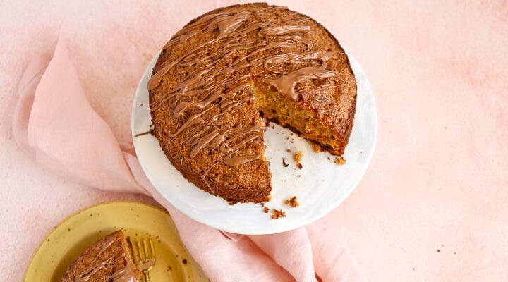 Carrot cake met chocola
