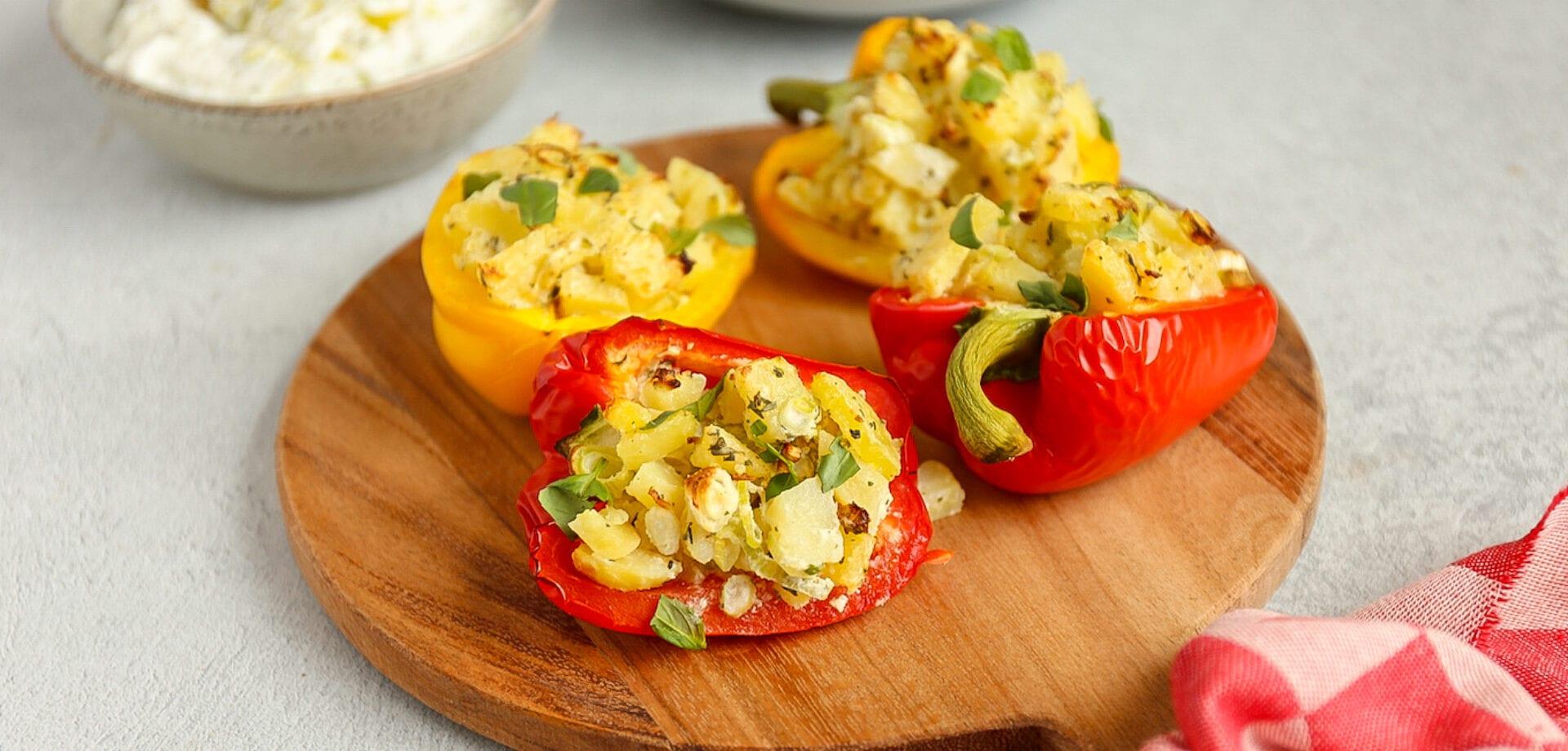 Gevulde paprika met aardappel