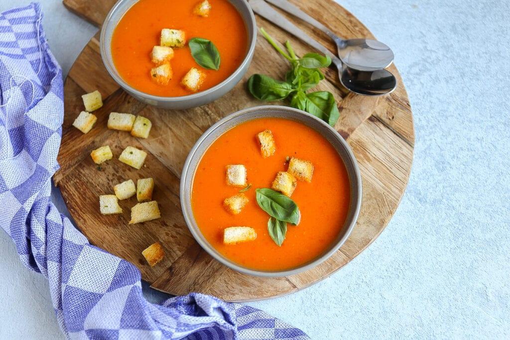 paprika-pesto soep