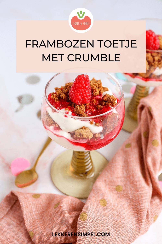 frambozen dessert met crumble