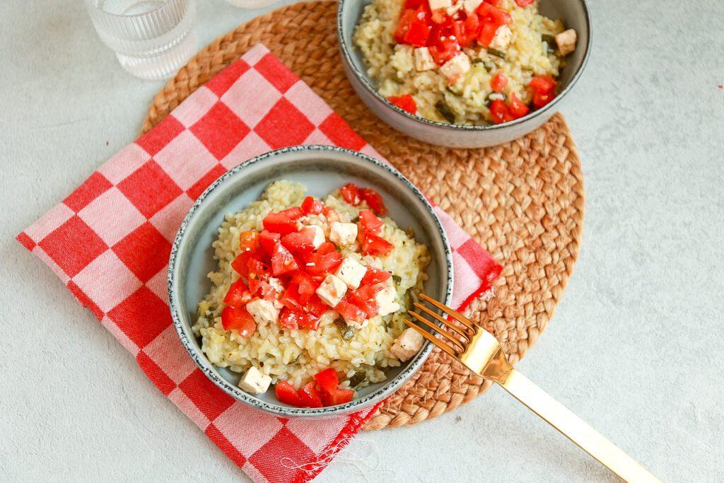 risotto met courgette en feta