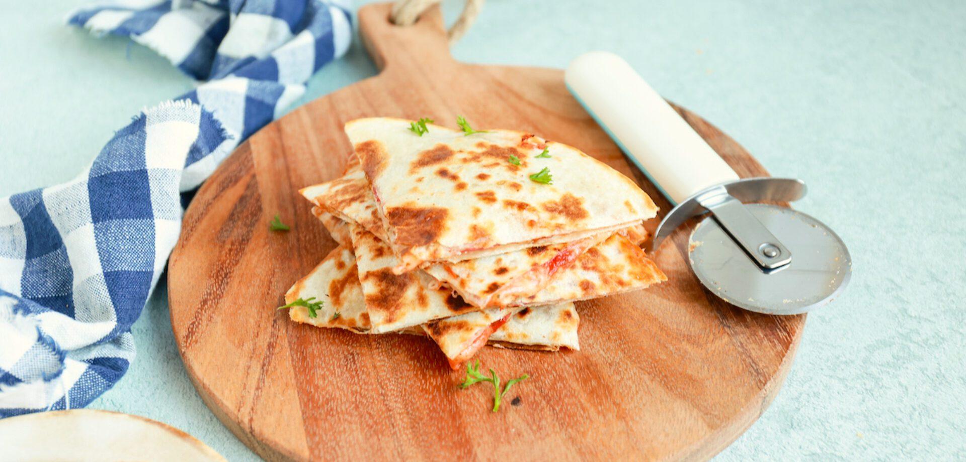 pizza quesadilla